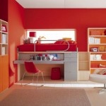 Interior Design Colorful Orange Kids Bedroom furniture Blue