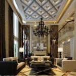 european-style-classic-droplight-and-window-for-living-room-classic-style-living-room
