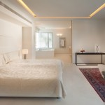 exciting-false-ceiling-for-bedrooms-with-white-bedding-and-TV-wall-panels-roof-and-ceiling-designs-amazing-interior-combined-with-spectacular-false-ceilings-for-bedrooms-design