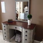 furniture-bedroom-gray-stained-wooden-vanity-dressing-table-with-dark-brown-wooden-top-and-single-mirror-also-nine-drawers-with-chrome-metal-handle-with-mirrors-plus-console-tables-luxuri