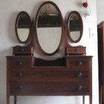 furniture-bedroom-walnut-vanity-table-with-three-oval-mirror-and-numerous-drawers-vanity-table-with-drawers-and-mirror