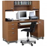 furniture-comfy-computer-desk-design-idea-with-fabulous-rectangle-wooden-top-also-deluxe-wood-drawers-and-single-black-chair-also-upon-bookcase-for-home-30-calm-and-cool-computer-d