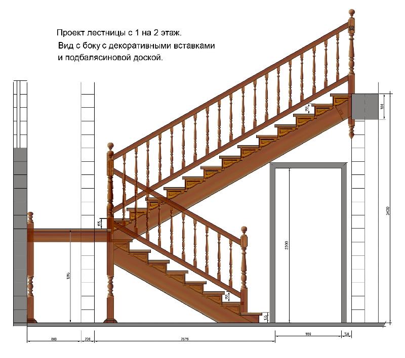 Проекты лестницы на второй этаж своими руками в доме