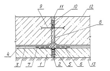 Температурно усадочный шов подпорных стен