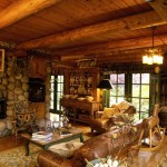 Интерьер деревянного дома внутри: 55 фото идей