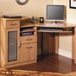 interior-corner-cream-wooden-desk-with-storage-having-frozen-glass-door-also-drawers-placed-on-the-brown-wooden-flooring-rustic-corner-computer-desk