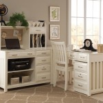 interior-white-wooden-corner-desk-with-drawers-and-shelves-feat-shelves-on-the-top-feat-white-wooden-chair-on-the-gray-floor-rustic-corner-computer-desk