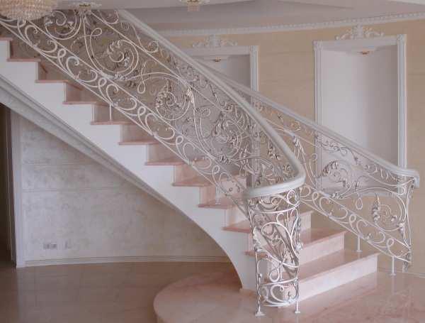 виды перил для лестниц фото