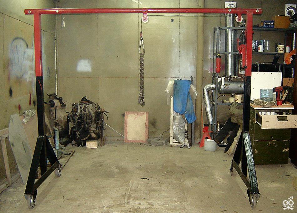 Сделать подъемник в гараж своими руками 18