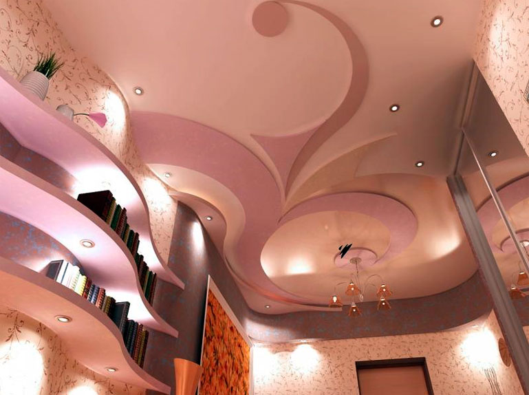 Потолок зала своими руками