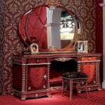 luxury-dressing-tables-with-reds-wall-design-in-bedroom-decor