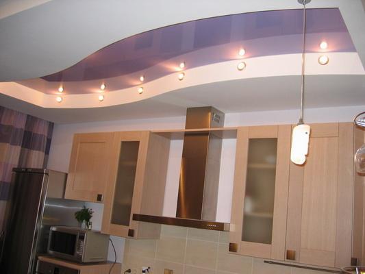 Потолки из гипсокартона для кухни фото своими руками