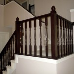 oak-stair-railing-makeover-using-gel-stain-Semi-Domesticated-Mama-featured-on-Remodelaholic