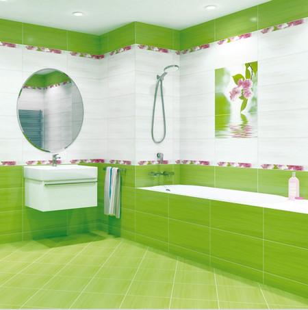 Дизайн ванных комнат в зеленом цвете