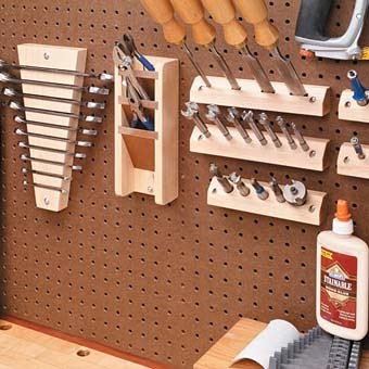 Полки для инструментов в гараже своими руками
