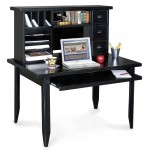 seductive-furniture-affordable-computer-workstation-desk-table-designs-with-black-computer-desk-along-open-shelving-and-three-drawers-also-space-keyboard-computer-desk-as-well-as-l