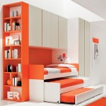trendy-kids-bedroom-interior-design-showing-off-modern-space-saving-bedroom-furniture-sets-of-loft-beds-decorating-ideas-with-orange-accent-triple-slide-trundle-bunk-beds-the-has