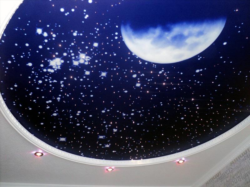 Что представляет собой натяжной потолок звёздное небо?