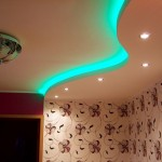Делаем потолок из гипсокартона с подсветкой