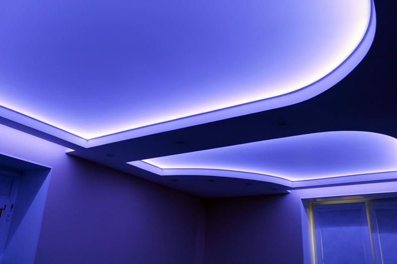 Фото навесных потолков со светодиодной подсветкой
