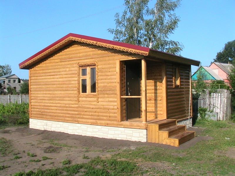 Возведение крыши для каркасной бани