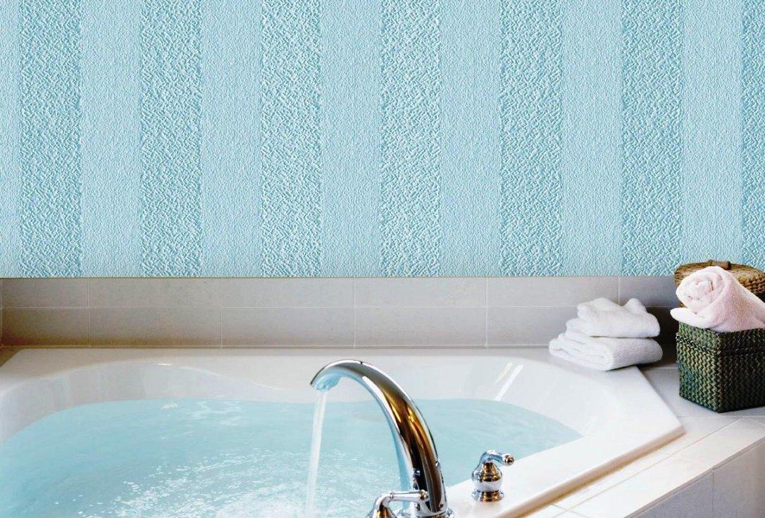 Стеклообои в ванной комнате дизайн