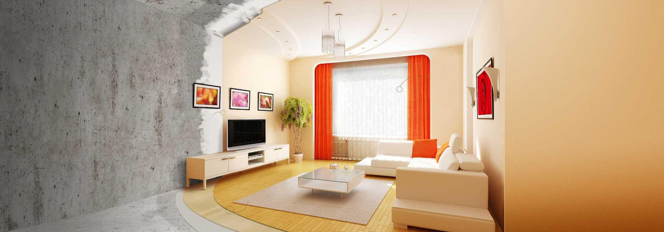 ремонт гостиной посредством экономии пошагово