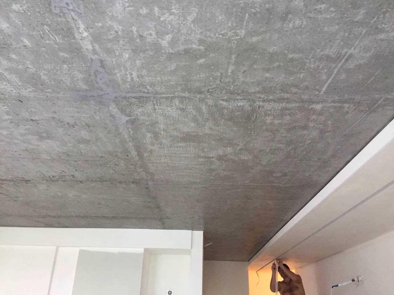 Потолок цвета бетона толщина полов из керамзитобетона