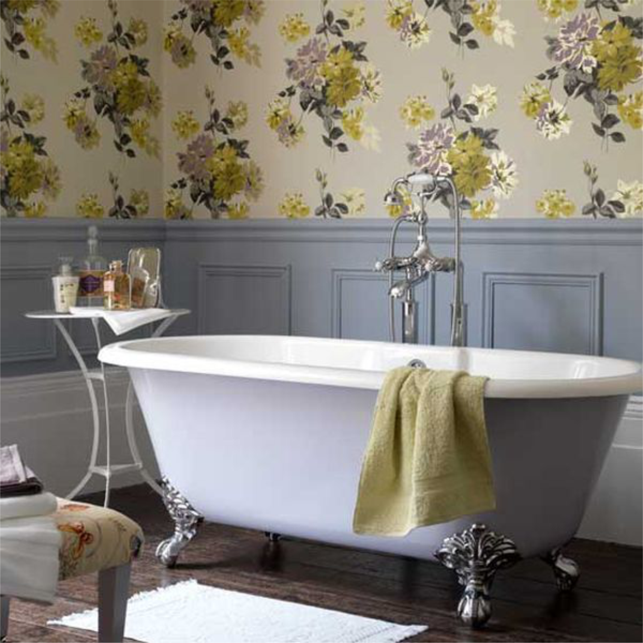 Bathroom wall paper