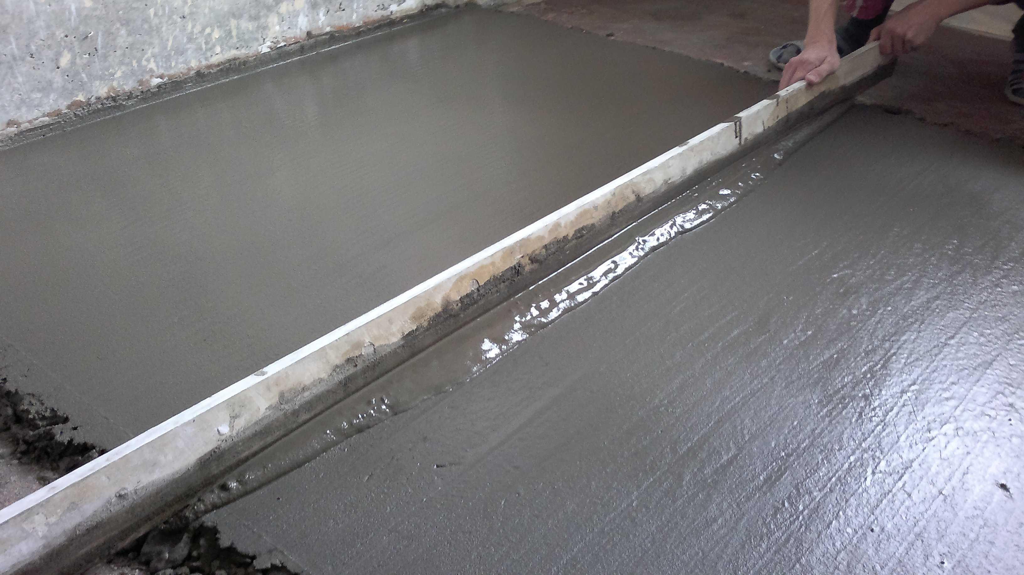 Устройство бетонного пола своими руками 41