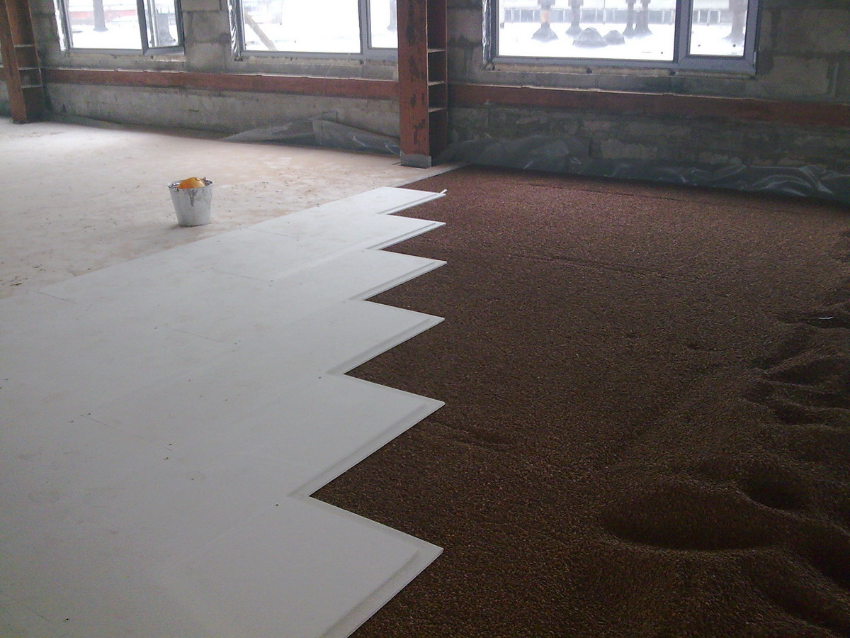 Knauf errors of dry screed