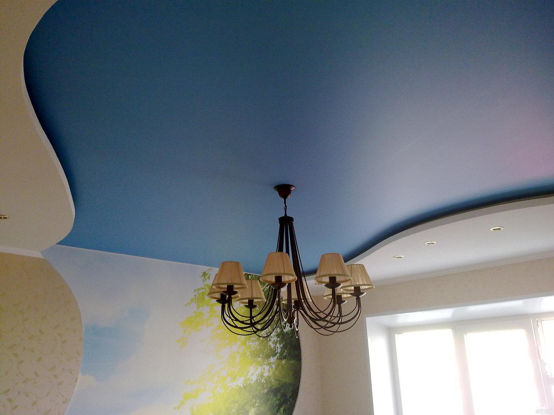 Фактурные натяжные потолки: характеристики, разновидности