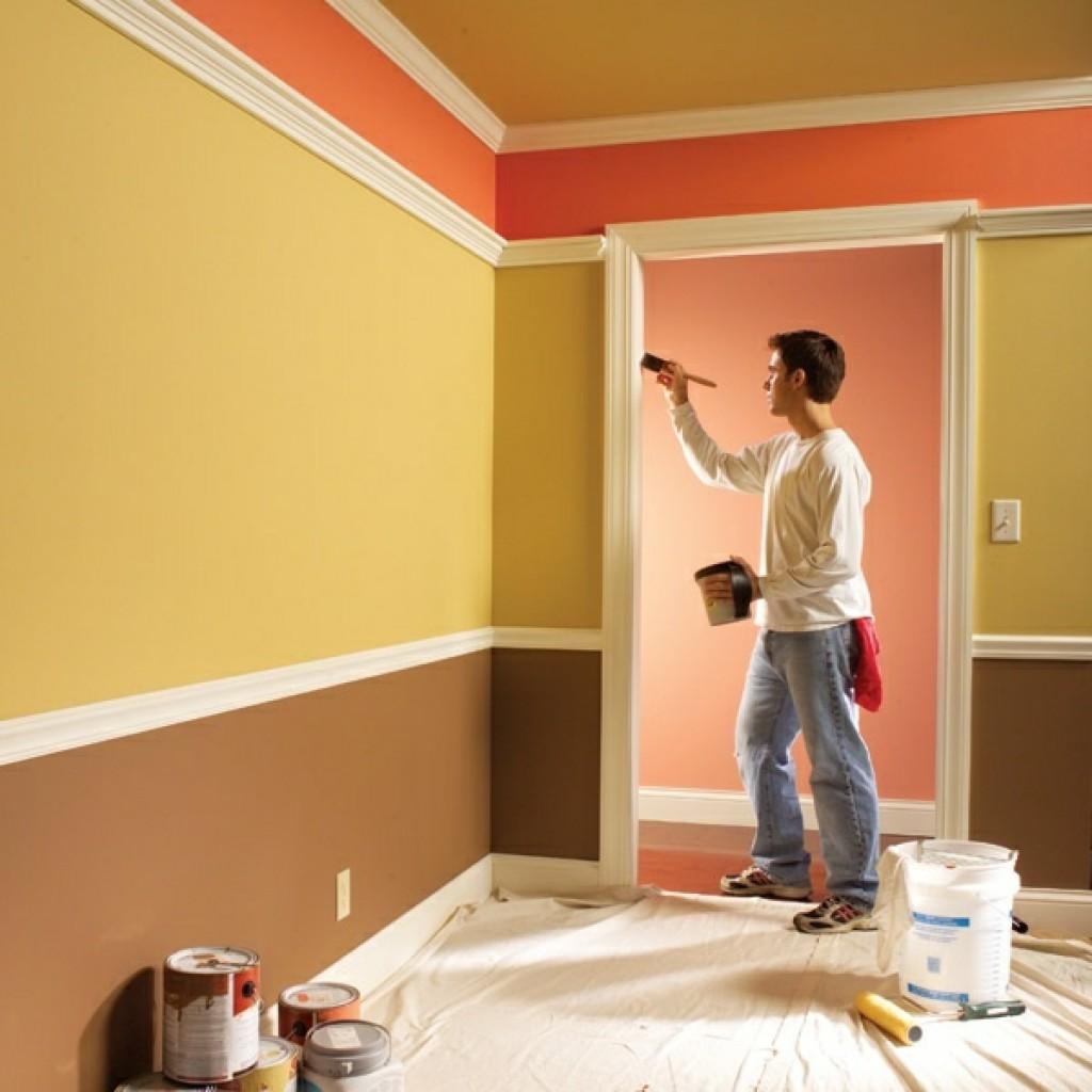 способ использования акриловой краски в покраски потолка своими руками