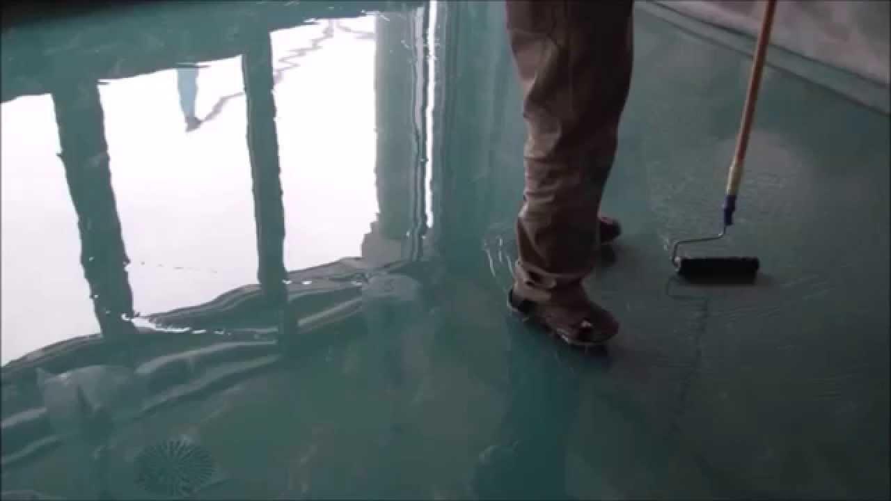 пример использования акрилового наливного пола в ремонте самостоятельно