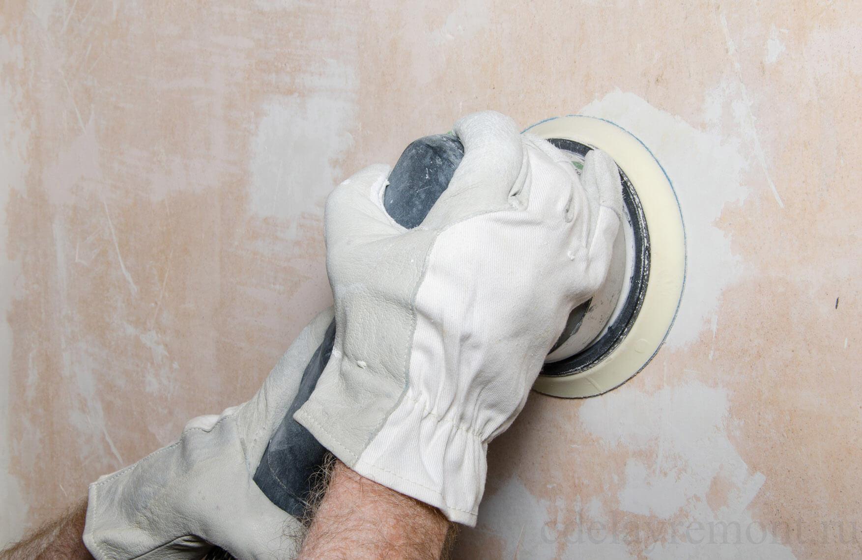 вариант применения шлифовки стен в ремонте дома