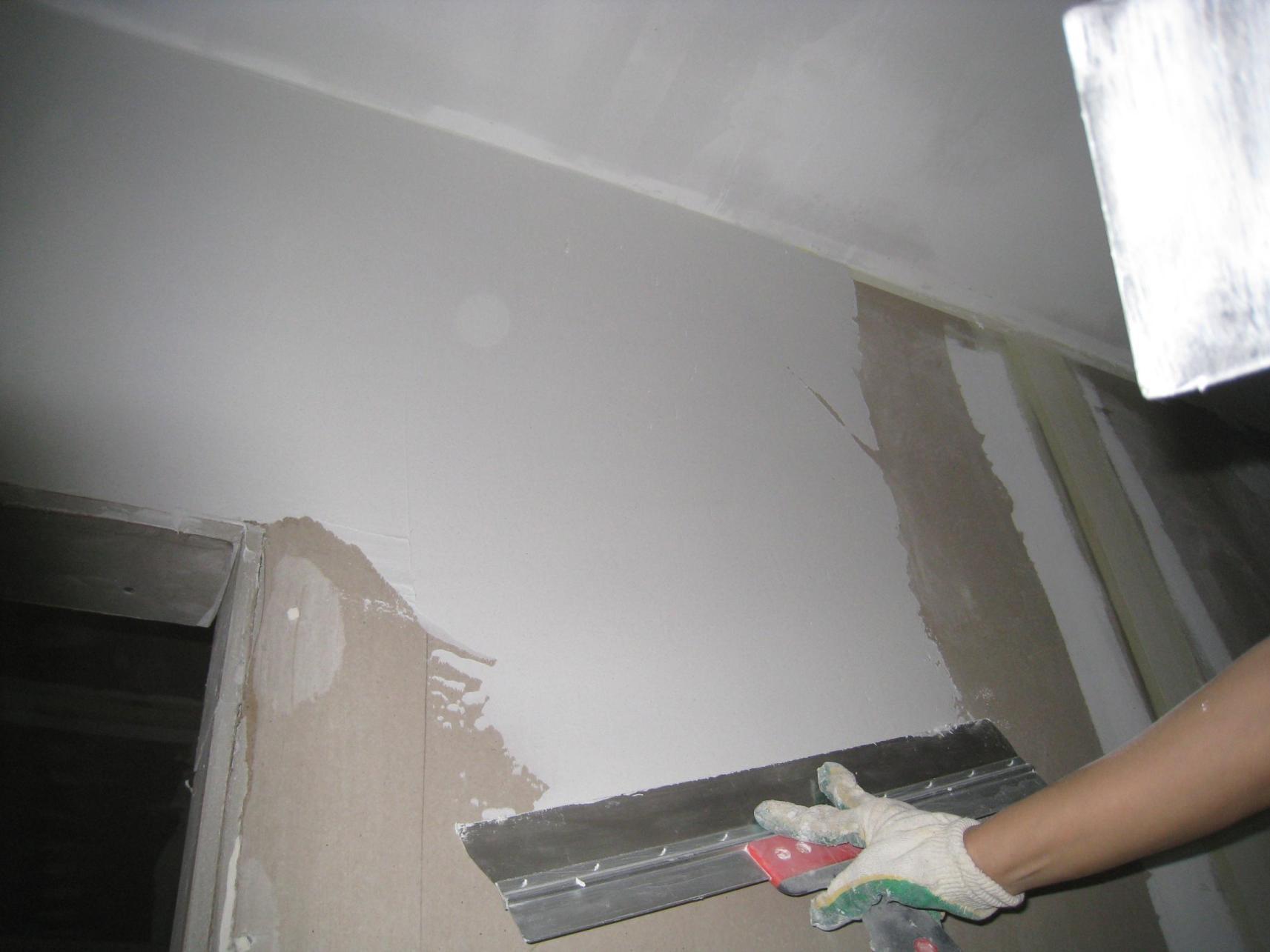 идея применения шпаклевки для стен в отделке квартиры