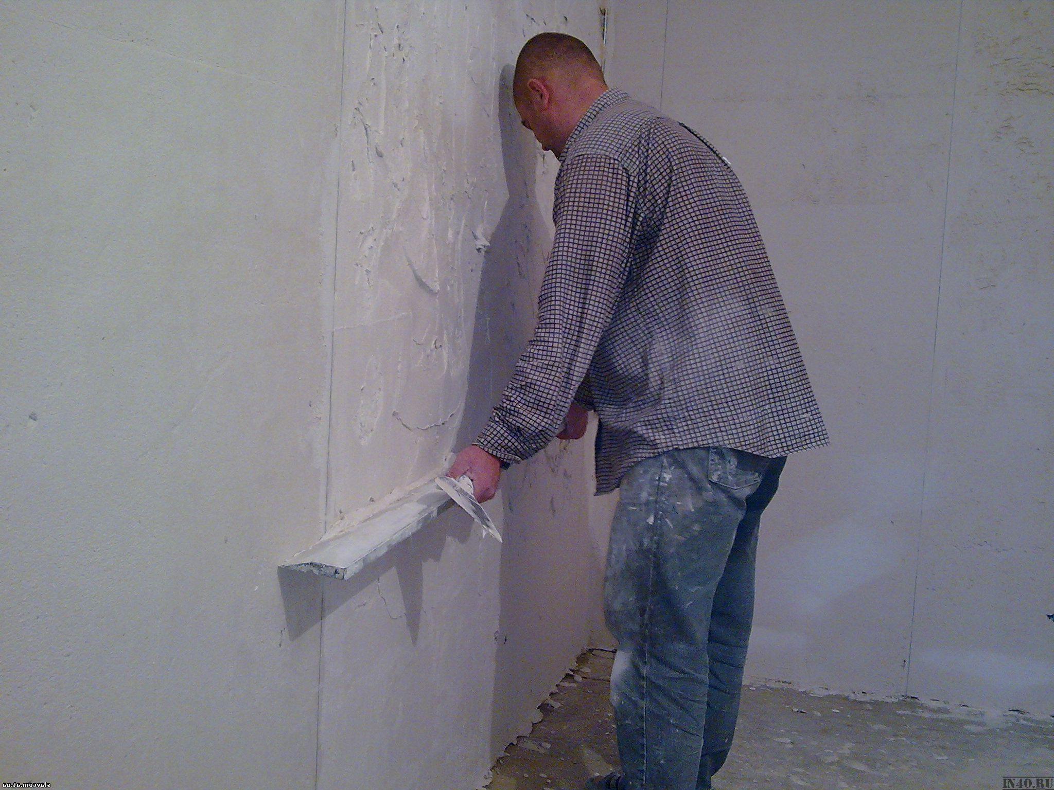 идея применения выравнивания стен под обои в ремонте дома