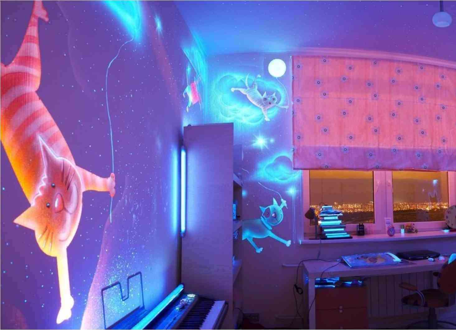 пример использования 3д обоев в ремонте комнаты